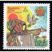 C-3242 - Centenário do Nascimento de Luiz Gonzaga Rei do Baião - 1° Porte Carta Comercial - 2012