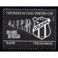 C-3364 - Centenário do Ceará Sporting Club - 1° Porte Carta Comercial - 2014