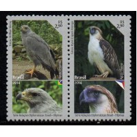 C-3368/3369 (conjunto) - Relações Diplomáticas: Filipinas - Aves Ameaçadas de Extinção - 2014