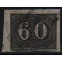 01/014 - Império - Olho de Cabra - 60 Réis - N° 14 - Catálogo Marca 8 UF'S