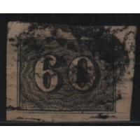 01/017 - Império - Olho de Cabra - 60 Réis - N° 14 - Catálogo Marca 8 UF'S