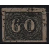 01/020 - Império - Olho de Cabra - 60 Réis - N° 14 - Catálogo Marca 8 UF'S