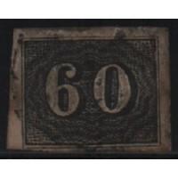 01/021 - Império - Olho de Cabra - 60 Réis - N° 14 - Catálogo Marca 8 UF'S