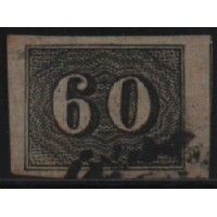01/023 - Império - Olho de Cabra - 60 Réis - N° 14 - Catálogo Marca 8 UF'S