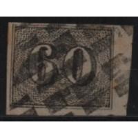 01/028 - Império - Olho de Cabra - 60 Réis - N° 14 - Catálogo Marca 8 UF'S
