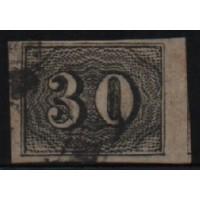 02/010 - Império - Olho de Cabra - 30 Réis - N° 13 - Catálogo Marca 8 UF'S