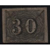 02/018 - Império - Olho de Cabra - 30 Réis - N° 13 - Catálogo Marca 8 UF'S
