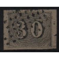 02/023 - Império - Olho de Cabra - 30 Réis - N° 13 - Catálogo Marca 8 UF'S