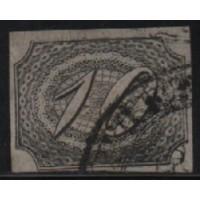 04/001 - Inclinado - 10 Réis - N° 04 - Catálogo Marca 60 UF'S