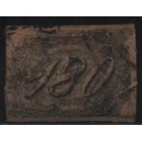 11/001 - Império - Inclinado - 180 Réis - Catálogo Marca 4.000 UF'S