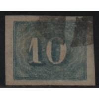 12/005 - Império (1861) - N° 19 - Catálogo Marca 25 UF'S