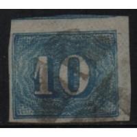 12/007 - Império (1861) - N° 19 - Catálogo Marca 25 UF'S