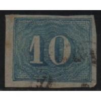 12/008- Império (1861) - N° 19 - Catálogo Marca 25 UF'S